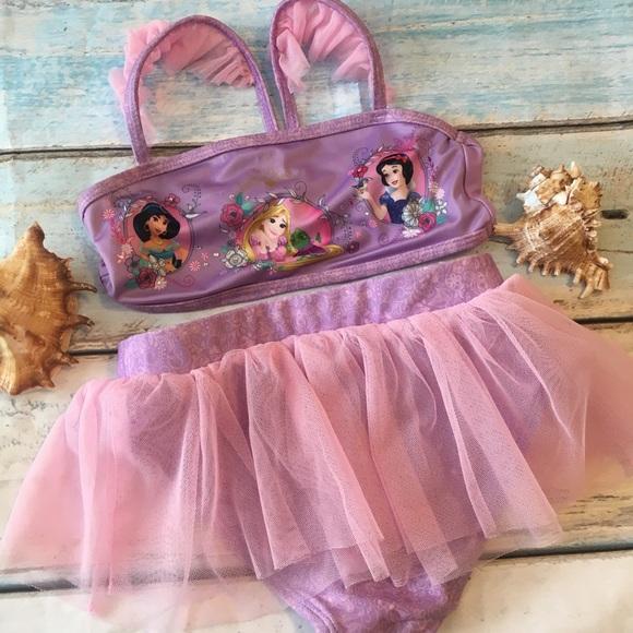 b72c735d11 Disney Store Girls Swimsuit Size 5 6 Tutu Princess